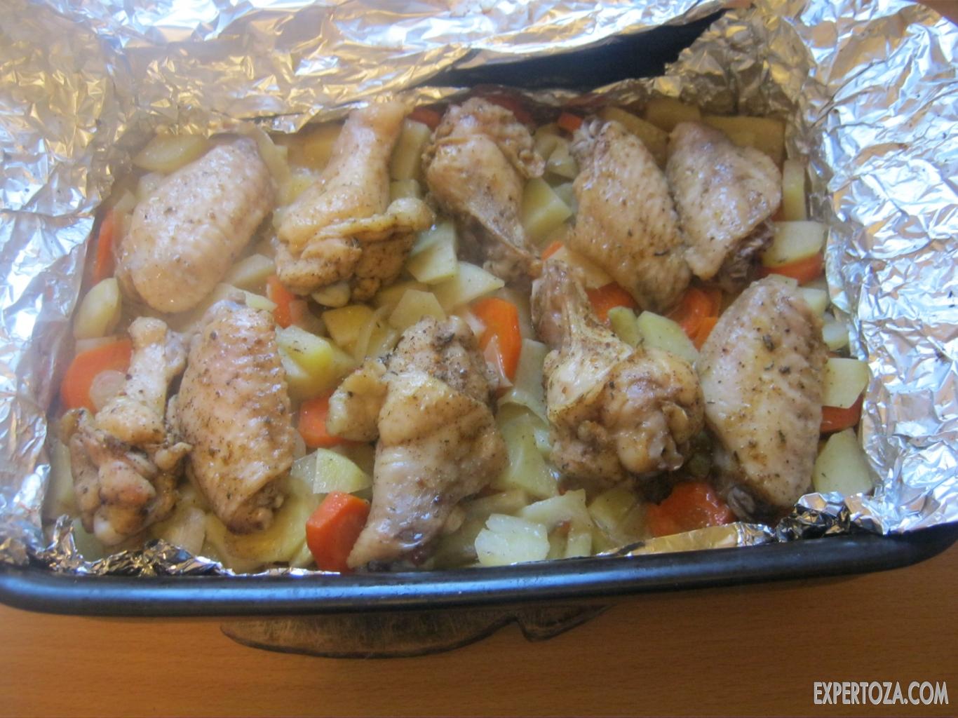 мясо в фольге с овощами в духовке рецепт с фото