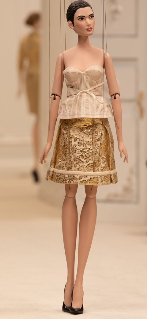 Jeremy Scott's Moschino Collection, Displayed on Puppets, Reflects the 'Upside-Down, Inside Out' World