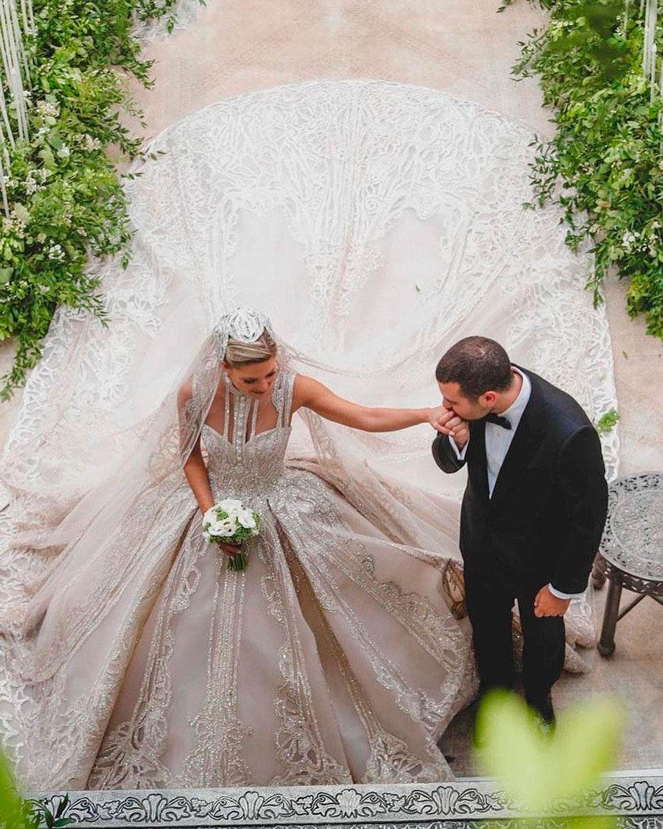 Кристина Мурад. Свадьба Эли Сааб-младшего не могла обойтись без невероятного платья